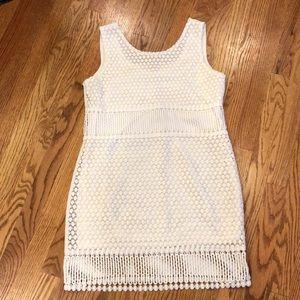 Boutique knit white dress, size medium